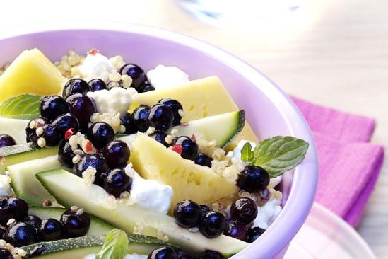 Quinoa Salad with Wild Blueberries