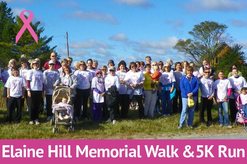 Elaine Hill Memorial Walk & 5K Run October 19