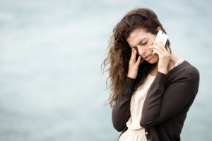 woman in crisis