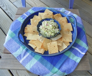 Fresh Cucumber Salsa with Lavash Chips