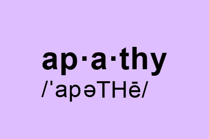 apathy is not an option