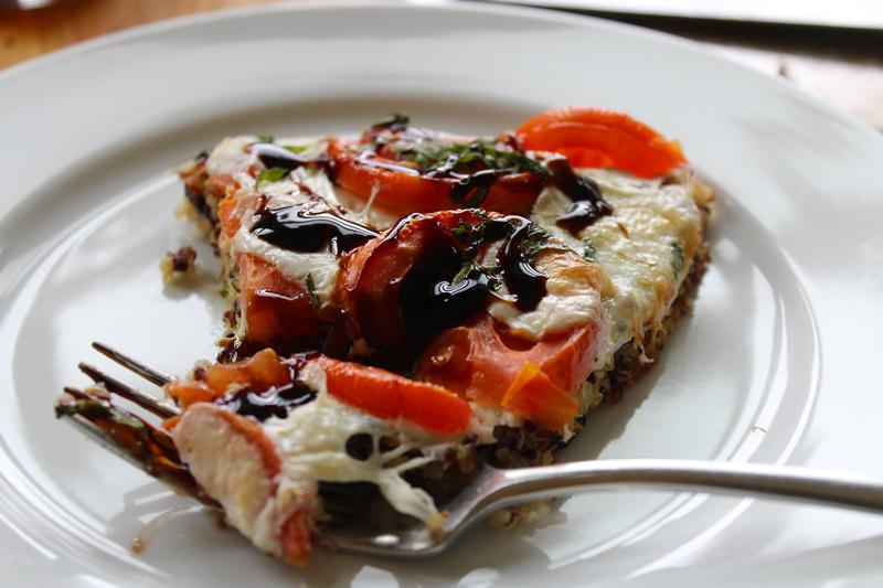Caprese Tart with Quinoa Crust