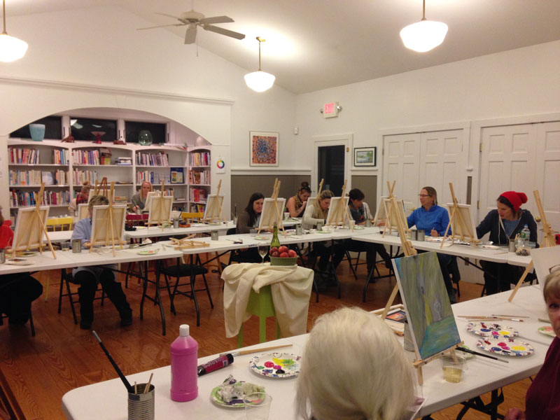 Join us for Paint and Pizza with Janie Snider