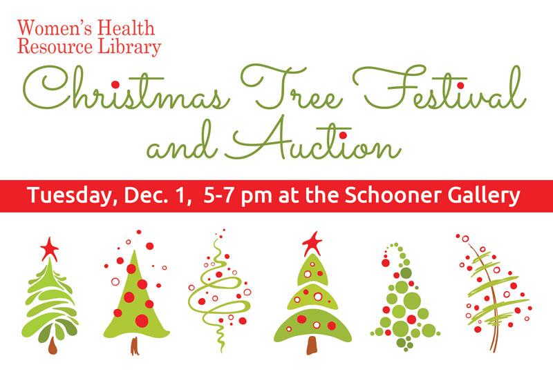 4th Annual Christmas Tree Festival and Auction Set for December 1st at the Schooner Gallery