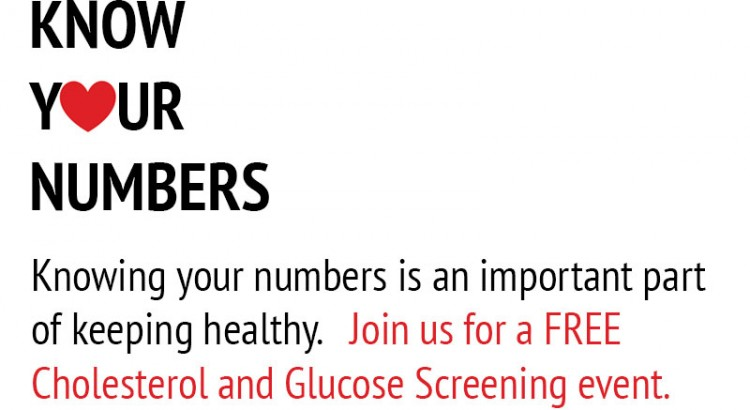 Know Your Numbers: A Free Cholesterol and Glucose Screening Event