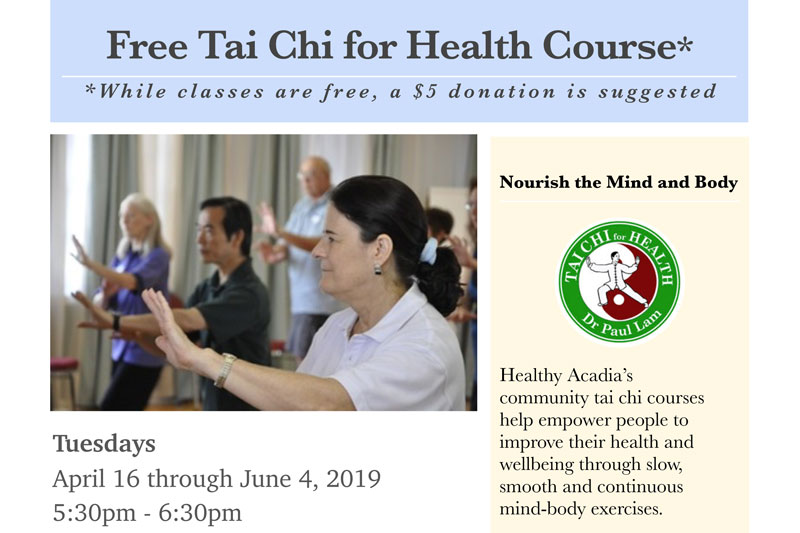 Tai Chi for Health Beginning April 16th