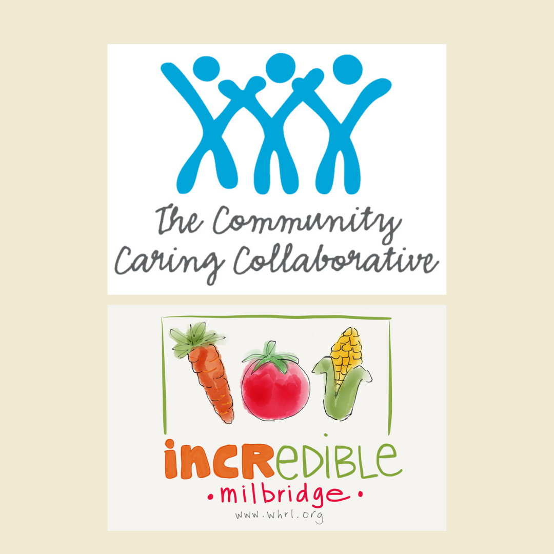 logos of Incredible Edible and the Community Caring Collaborative