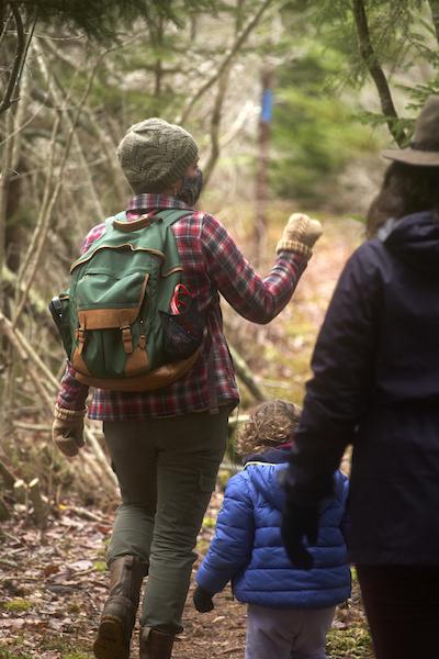 Woman guiding a hike