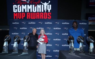 Robert Kraft And The New England Patriots Foundation Honor Chris Kuhni With A 2021 Myra Kraft Community MVP Award